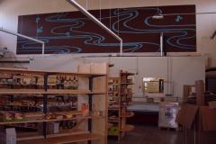 Décor peint réalisé à la Biocoop de Mellac